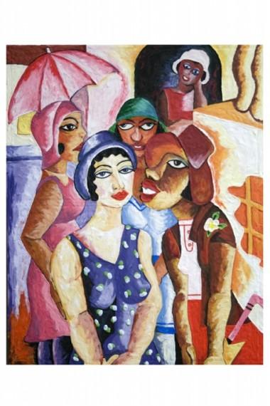"""""""Cinco Moças de Guaratinguetá, 1930, Di Cavalcanti"""", 2008"""