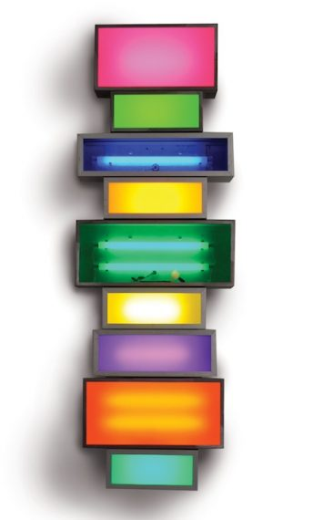 Wallflower 6, 2011_Steel, aluminium lightboxes, steel supports, acrylic sheets, fluorescent lights and cable_170 x 58,5 x 16 cm
