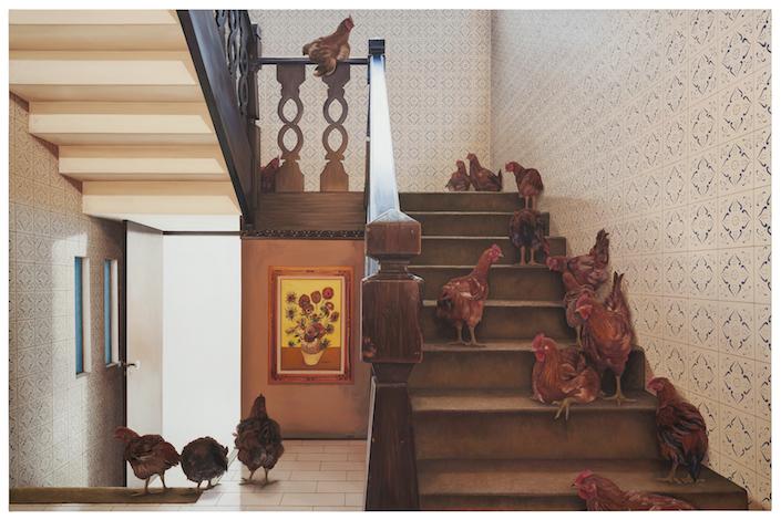 Escada com galinhas, 2017