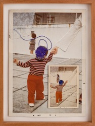 Mariana Mauricio_Guardian (Doppelganger), 2012_Giclee print and stitching on photograph_37 x 27 x 4 cm