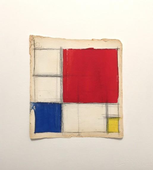 Homenagem (teste com cores Mondrian) III, 2016