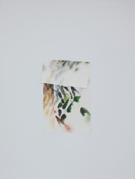 Autorretrato como papel toalha sujo de tinta IV, 2017