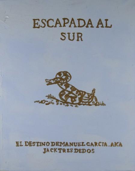 Afiche Escapada al sur (El destino de Manuel Garcia AKA Jack Tres Dedos), 2015