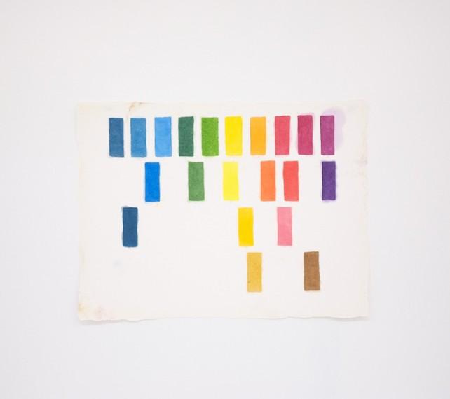 Homenagem (teste de cores E. Kelly) I, 2016