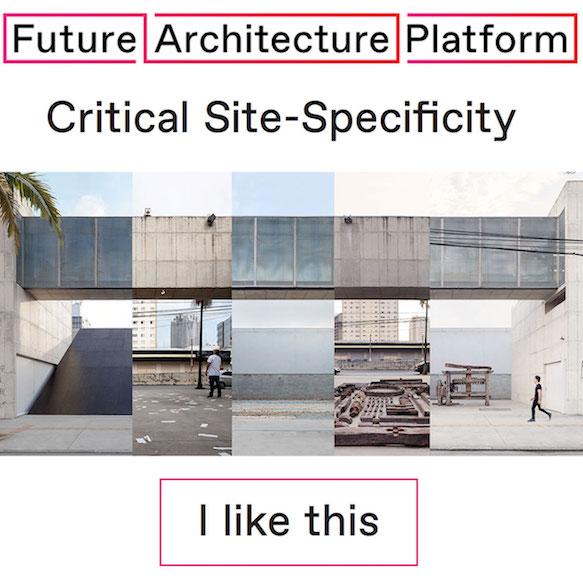 SITU | Future Architecture Platform — Galeria Leme