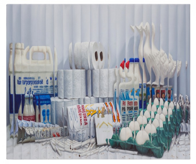 Still life with products and white objects, 2016
